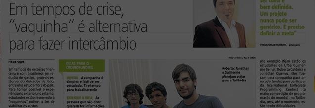 Crowdfunding para Intercambio (A Tarde 28/fev/2016)